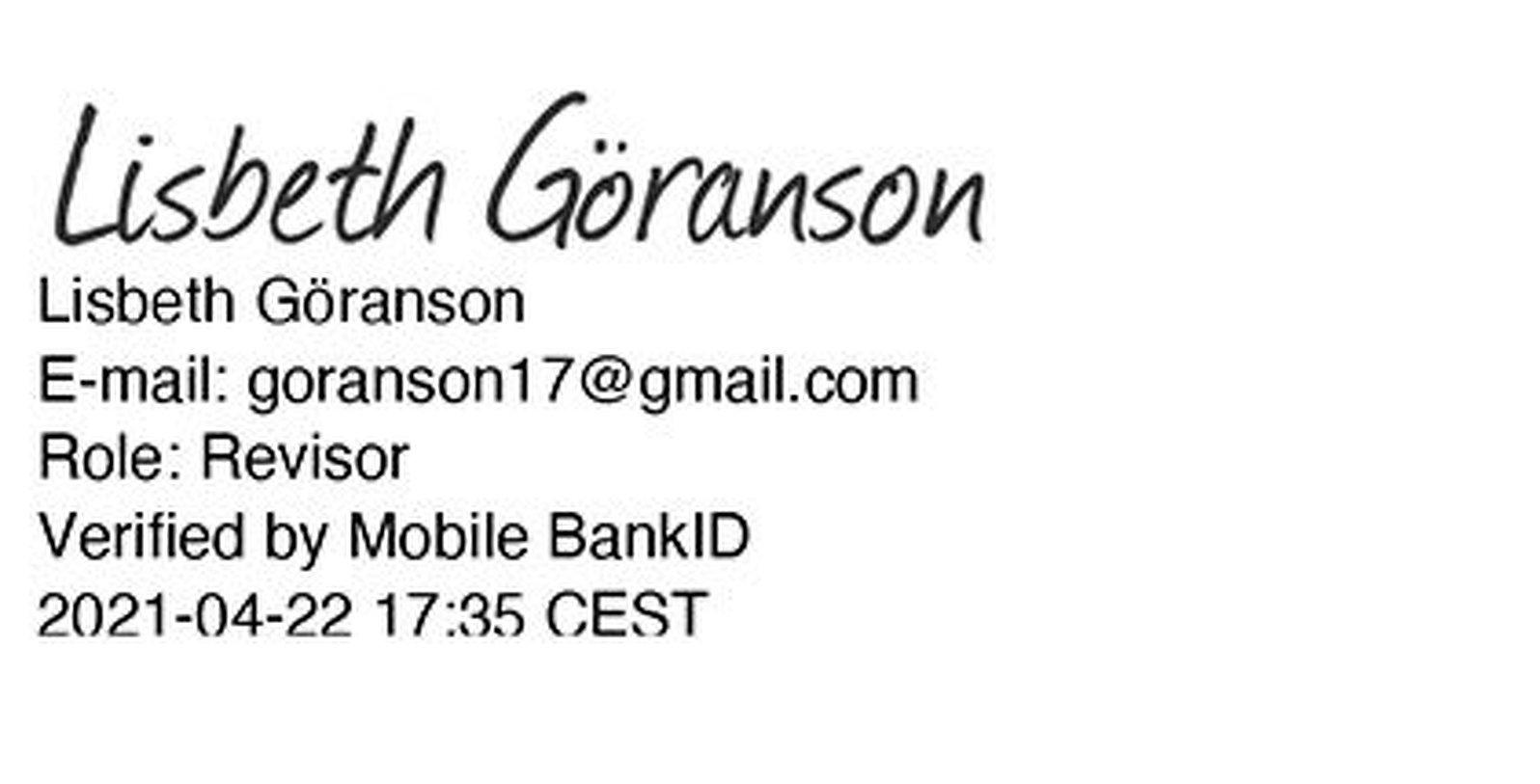 Lisbeth Göranson digital underskrift