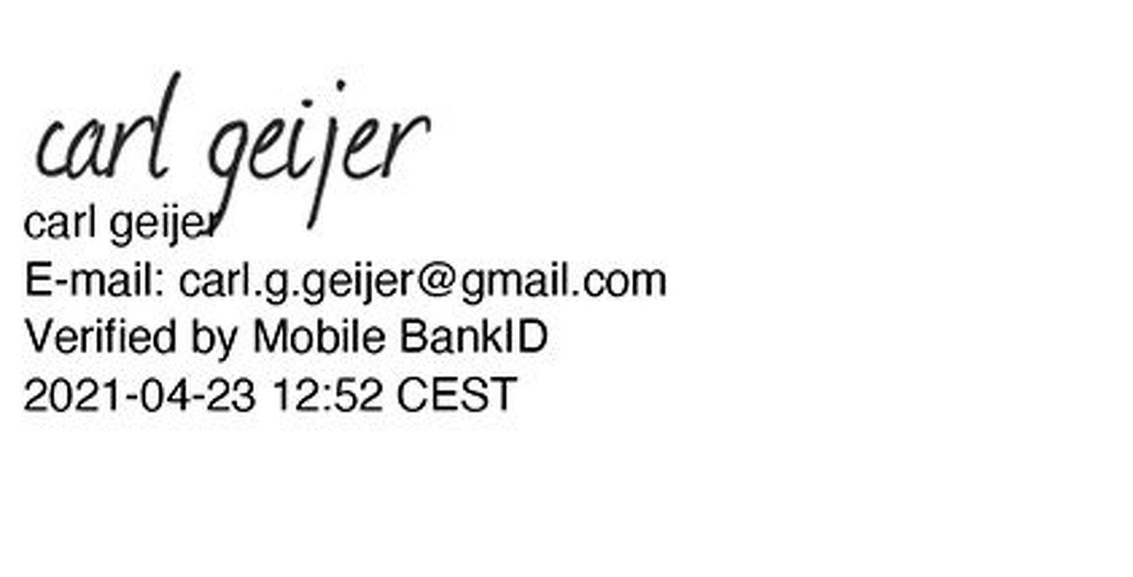 Carl Geiger digital underskrift