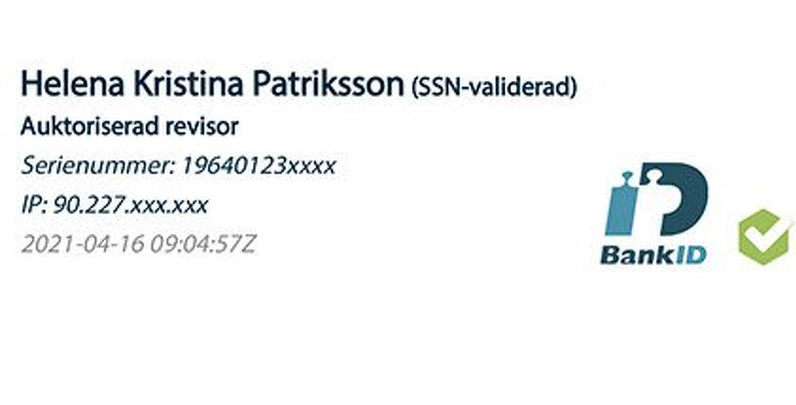 Helena Patriksson digital signering