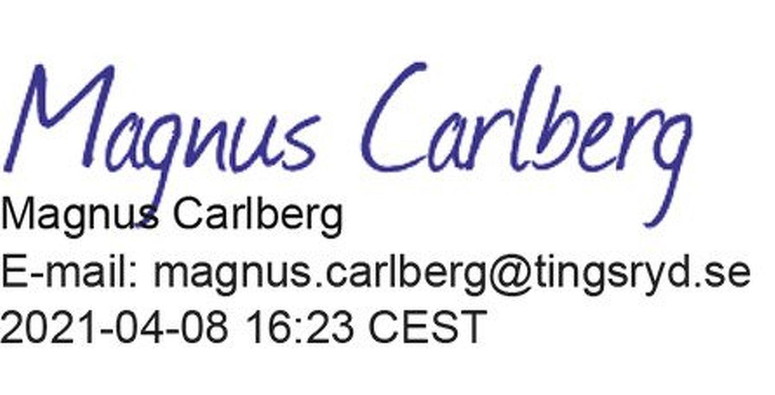 Magnus Carlberg digital signatur