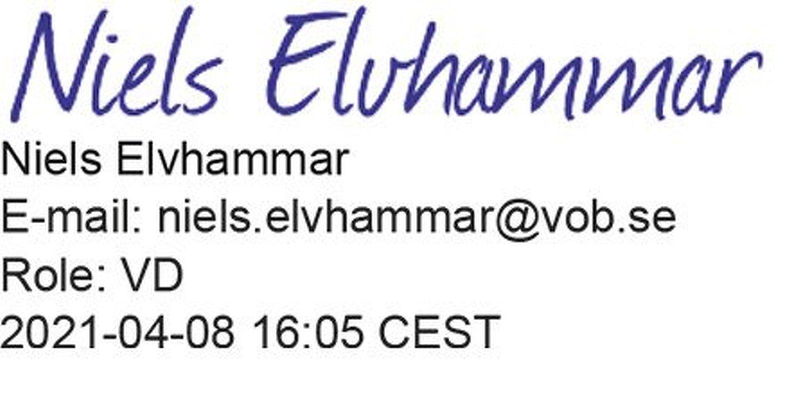 Niels Elvhammar digital signatur